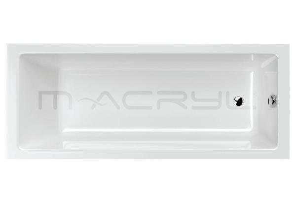 M-acryl Mia Slim 160x70 egyenes akril kád