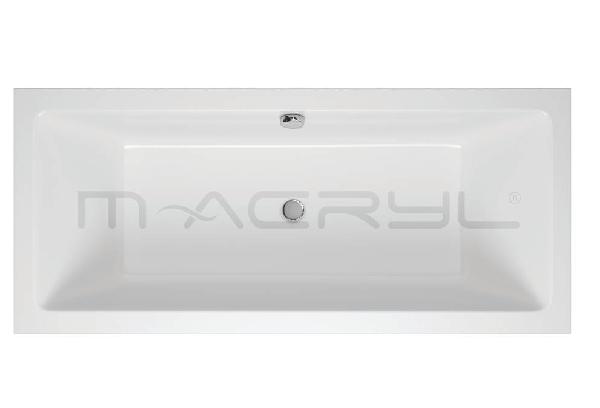 M-acryl Sabina Slim 180x80 egyenes akril kád+láb