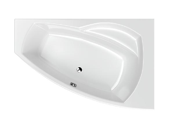 M-acryl Claudia 160x105 jobbos aszimmetrikus akril kád + láb