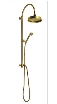 ANTEA zuhanyoszlop csaptelep nélkül, fej- és kézizuhannyal, bronz (SET036)