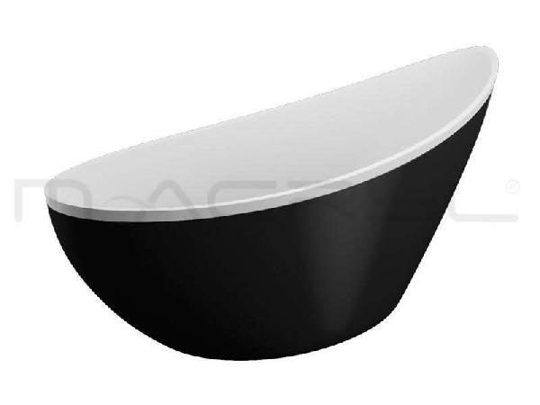 M-acryl PARADISE szabadon álló KÁD 180x80 + ELŐLAP + LÁB (matt fekete)