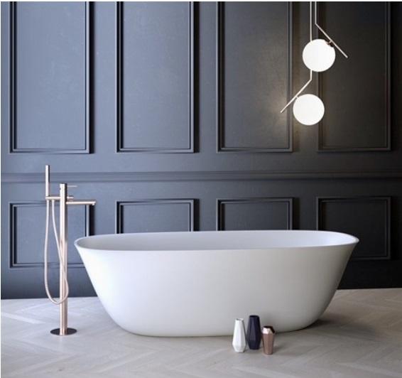 Marmy MONZA 165x65 öntött márvány térben álló fürdőkád