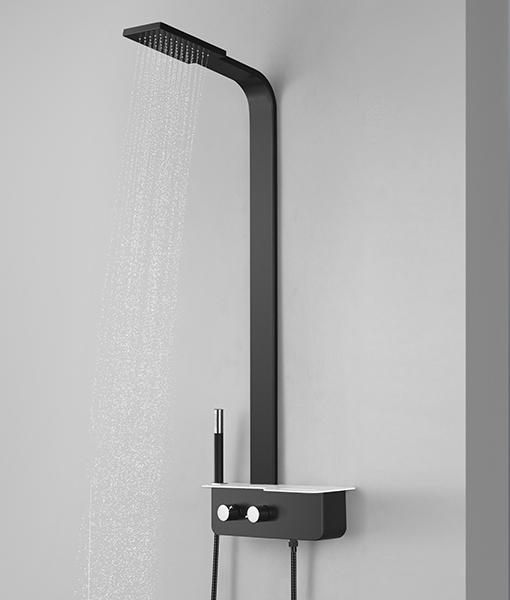 Niagara Wellness BENIN zuhanypanel 112×13cm - fekete