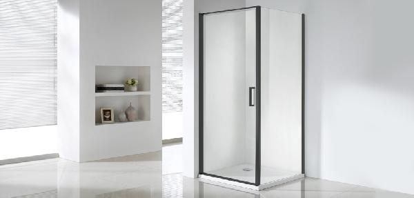 Wellis Quadrum Black 90x9x190 egy nyílóajtós szögletes zuhanykabin - matt fekete
