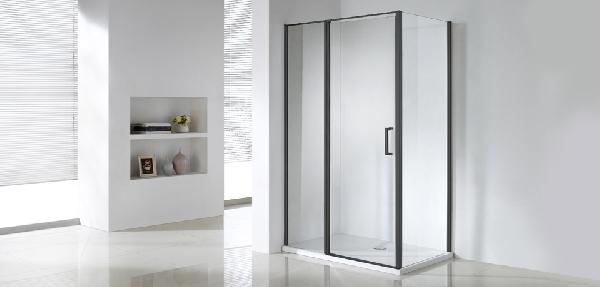 Wellis Triton Black 120x80x190 egy nyílóajtós szögletes zuhanykabin - matt fekete