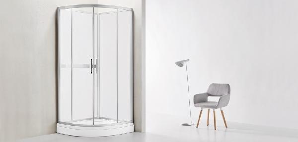 Wellis Vivara 90x90 fehér üveg hátfalas zuhanykabin