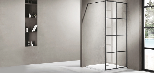 Wellis Tino walk-in 120x100 zuhanyfal - matt fekete