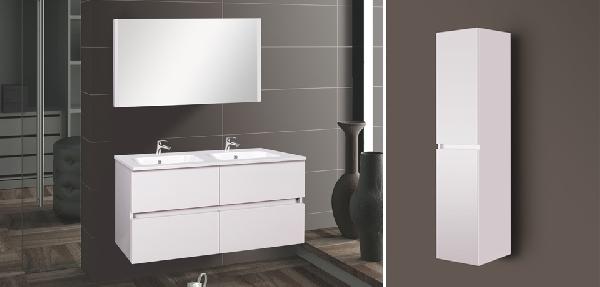 Wellis Elois 120 white függesztett fürdőszoba bútor - SZETT AKCIÓ