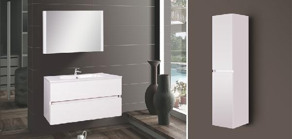 Wellis Elois 80 white függesztett fürdőszoba bútor - SZETT AKCIÓ