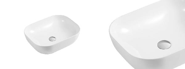 Wellis Daisy porcelán mosdó 490x395x150mm - pultra építhető