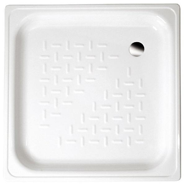 AQUALINE lemez zuhanytálca, 80x80x16cm, fehér (PD80X80)