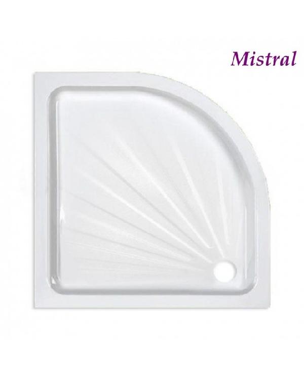 Mistral íves acéllemez zuhanytálca 90x90