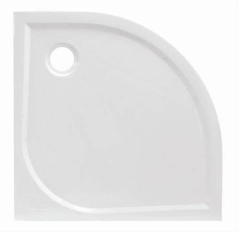 Siko LIMNEW öntött márvány 100x100x3cm íves fehér zuhanytálca