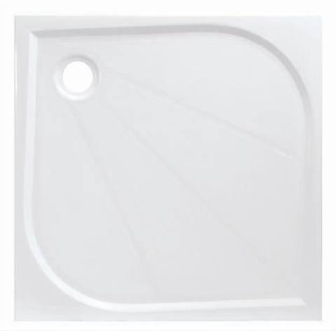 Siko LIMNEW öntött márvány 90x90x3cm szögletes fehér zuhanytálca
