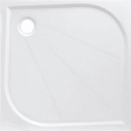 Siko LIMNEW öntött márvány 80x80x3cm szögletes fehér zuhanytálca