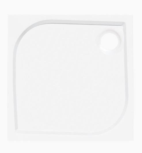 Siko Flat akril 80x80x4cm négyzet fehér zuhanytálca