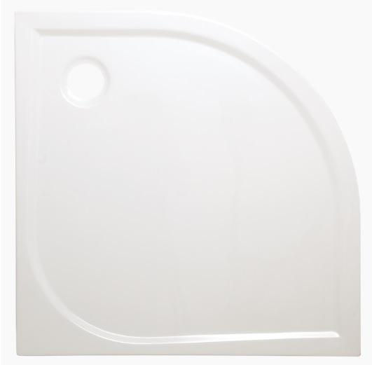 Siko Flat akril 90x90x4cm íves fehér zuhanytálca
