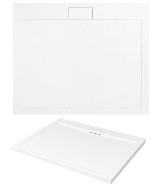 Besco AXIM ultraslim szögletes akril zuhanytálca 80x100cm