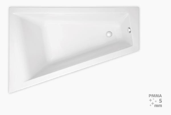 Laguna Idea Plus 160x100x46 cm akril asszimetrikus kád, balos 200 l
