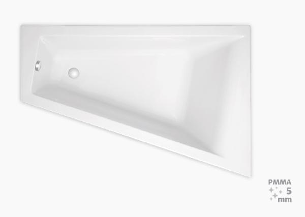 Laguna Idea Plus 160x100x46 cm akril asszimetrikus kád, jobbos 200 l