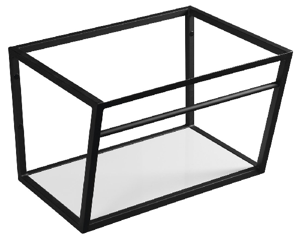Sapho SKA mosdótartó keret pult alá, fehér MDF polccal, 60x40x46cm, matt fekete (SKA101)