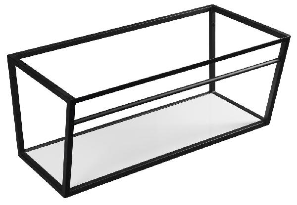 Sapho SKA mosdótartó keret pult alá, fehér MDF polccal, 90x40x46cm, matt fekete (SKA103)