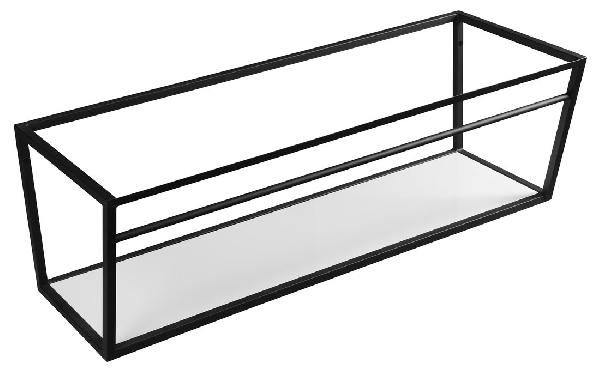 Sapho SKA mosdótartó keret pult alá, fehér MDF polccal, 120x40x46cm, matt fekete (SKA104)