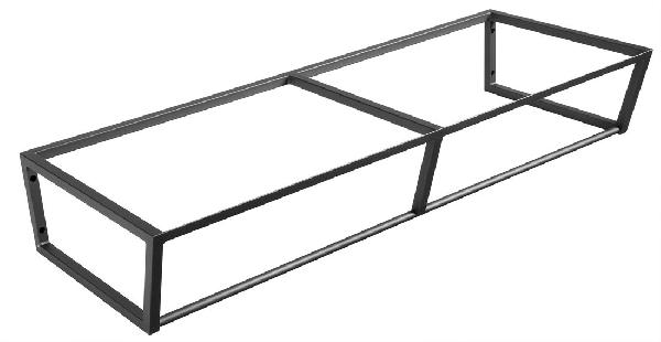 Sapho SKA mosdótartó keret pult alá, 120x20x46cm, matt fekete (SKA204)