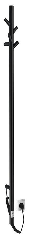 Sapho PASADOR Elektromos álló fürdőköppeny, törölköző szárító radiátor, időzítővel, 150x1500mm, 30W, matt fekete (ER175BT)