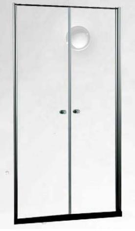 Sanotechnik ELEGANCE zuhanyfülke ajtó 90 cm, króm (N1090)