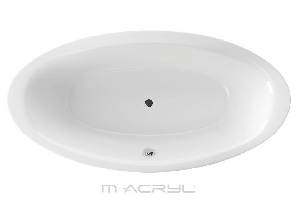 M-acryl Oval 190x95cm akril ovális kád + láb