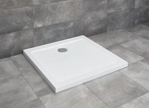 Radaway Doros Stone C 90x90 szögletes lapos kőhatású akril zuhanytálca