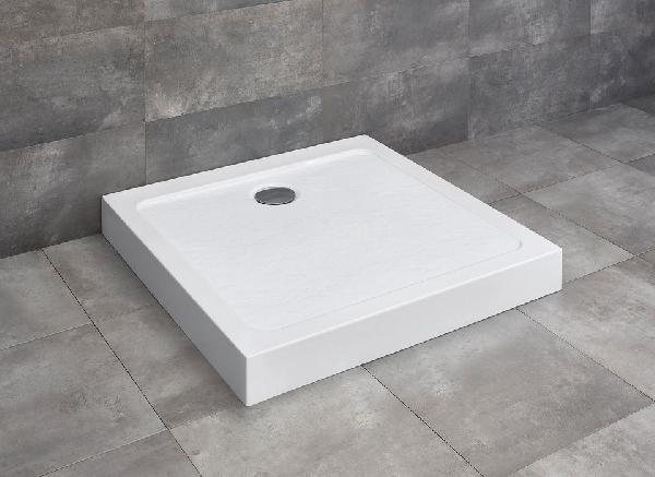 Radaway Doros Stone C 90x90 szögletes kőhatású akril zuhanytálca előlappal