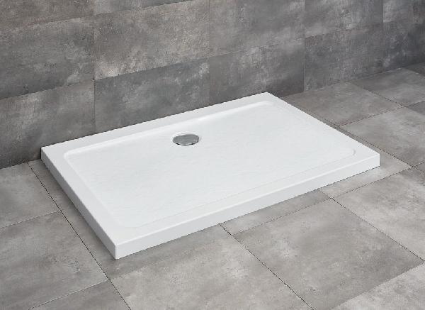 Radaway Doros Stone D 80x100 szögletes lapos kőhatású akril zuhanytálca