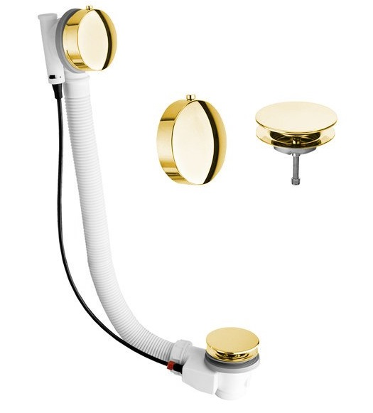 Sapho SILFRA MODEL 06 kád le-túlfolyó, 475mm, dugó átm:72mm, arany (061770052)