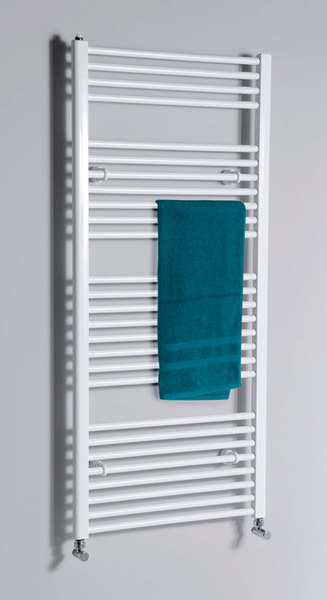 Aqualine fürdőszobai radiátor, 600x1690 mm, egyenes fehér (ILR66)