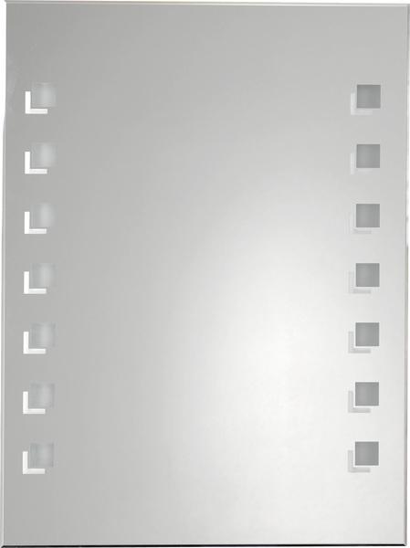 Aqualine hátulról világító tükör dekorral 60x80 cm, 2x18W IP 44, húzókapcsolóval (ATH26)