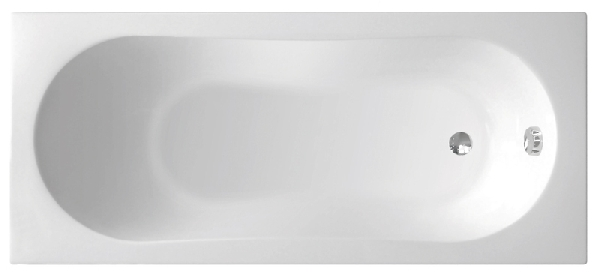 Aqualine Jizera akril kád 120x70x39 cm, láb nélkül (G1270)