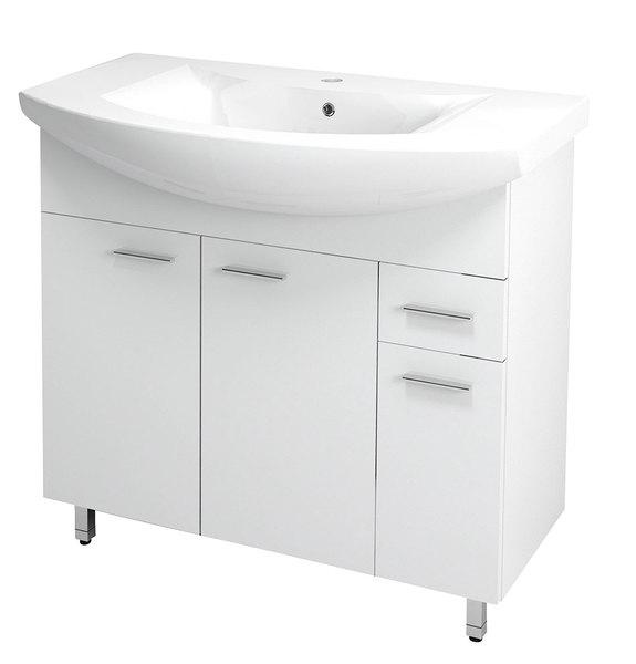 Aqualine ZOJA Mosdótartó szekrény, fehér 83x74x34 cm + ZERO mosdó, kerámia 86X50cm