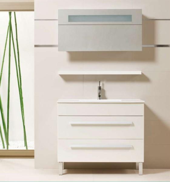 Premium White 90 Fürdőszobaszekrény komplet