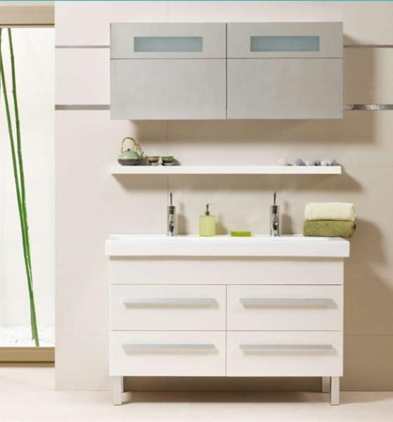 Premium White 120 Fürdőszobaszekrény komplet