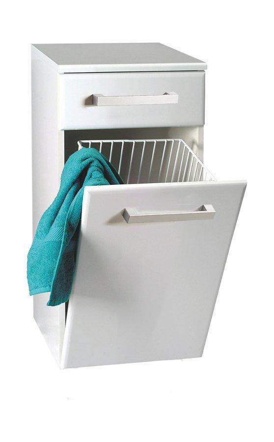 Aqualine VEGA alsó szekrény szennyestartóval 40x78x31cm, fehér (VG078)
