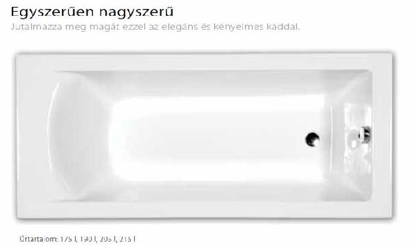 M-acryl FRESH 160X70 egyenes kád + láb
