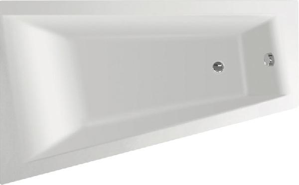 Aqualine METUJE akril kád 160x100x47 cm, bal, láb nélkül (G2610)