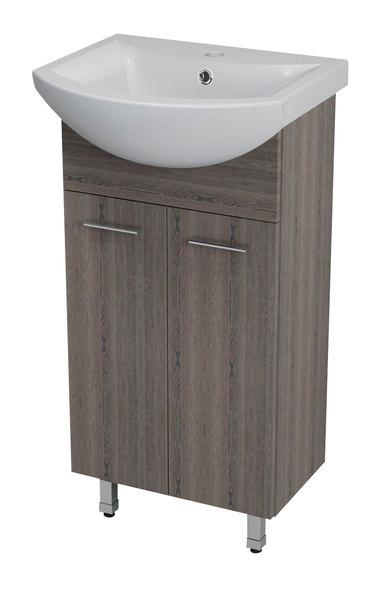 Aqualine ZOJA mosdótartó szekrény, mali wenge 42x74x25cm + ZERO mosdó, kerámia 45,5x40cm