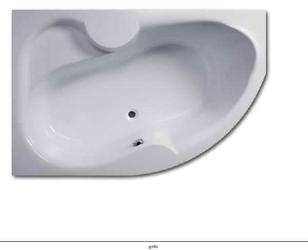 Hopa Gela 160x105 asszimetrikus balos akril kád