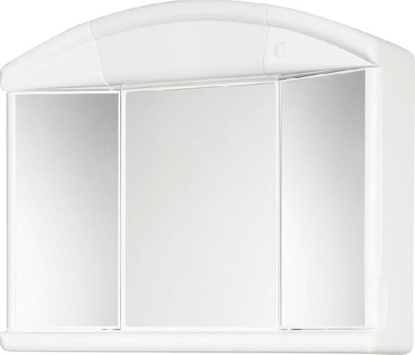 Aqualine Salva tükrösszekrény 59x50x15,5 fehér, műanyag (671232)