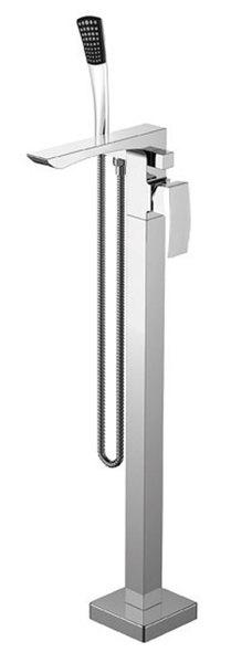 GINKO térben álló kád csaptelep zuhanyszettel, alaptesttel, króm (1101-21)