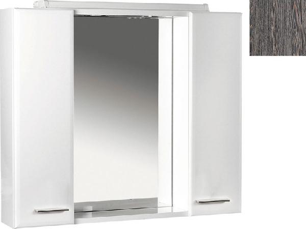 Aqualine Zoja tükrös szekrény halogén világítással, 70x60x14 cm, mali wenge (45026)