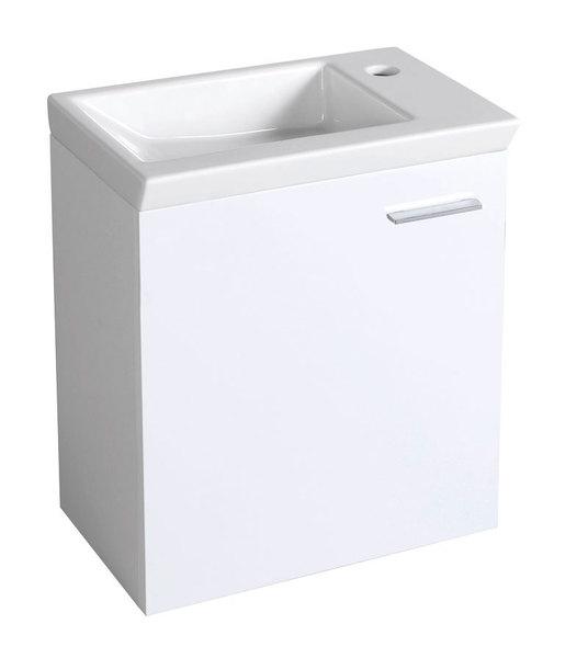 Aqualine mosdótartó szekrény 44x50x25 cm, balos (51046L) + ZORAN mosdó 45x5x27,5cm (4045)